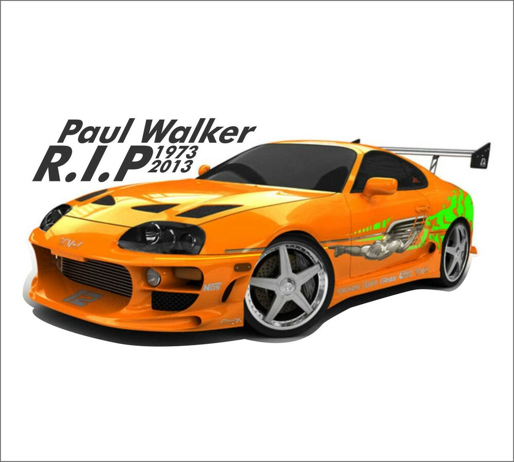 Details about supra r i p paul walker car bumper vinyl sticker 2jz turbo fast and furious