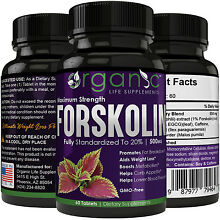 Maximum Strength 100% Pure Forskolin 500mg Rapid Results! Forskolin Extract Pill