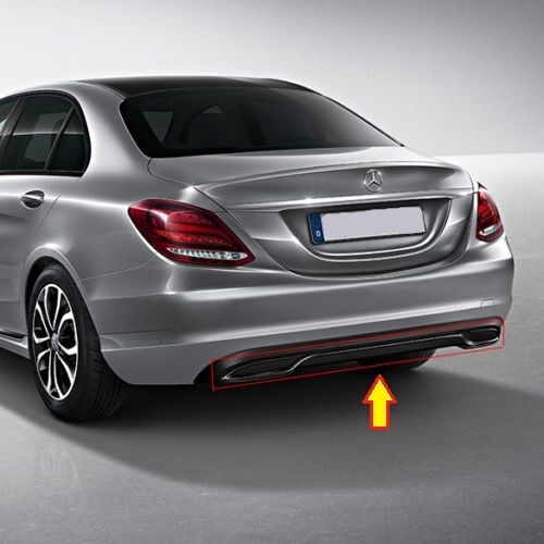 NEW GENUINE MERCEDES MB C CLASS W205 NIGHT PACKAGE GLOSS