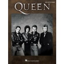 Queen for Big-Note Piano Sheet Music Big Note Book NEW 000221949