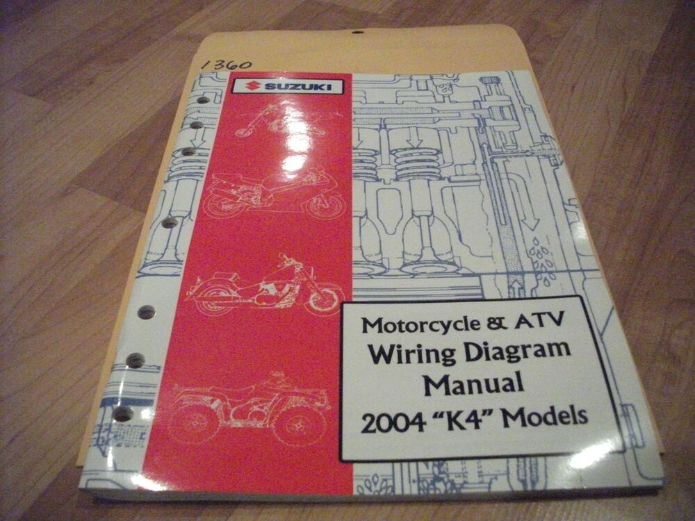 2004 Suzuki  U0026 39 K4 U0026 39  Models Motorcycle  U0026 Atv Wiring Diagram
