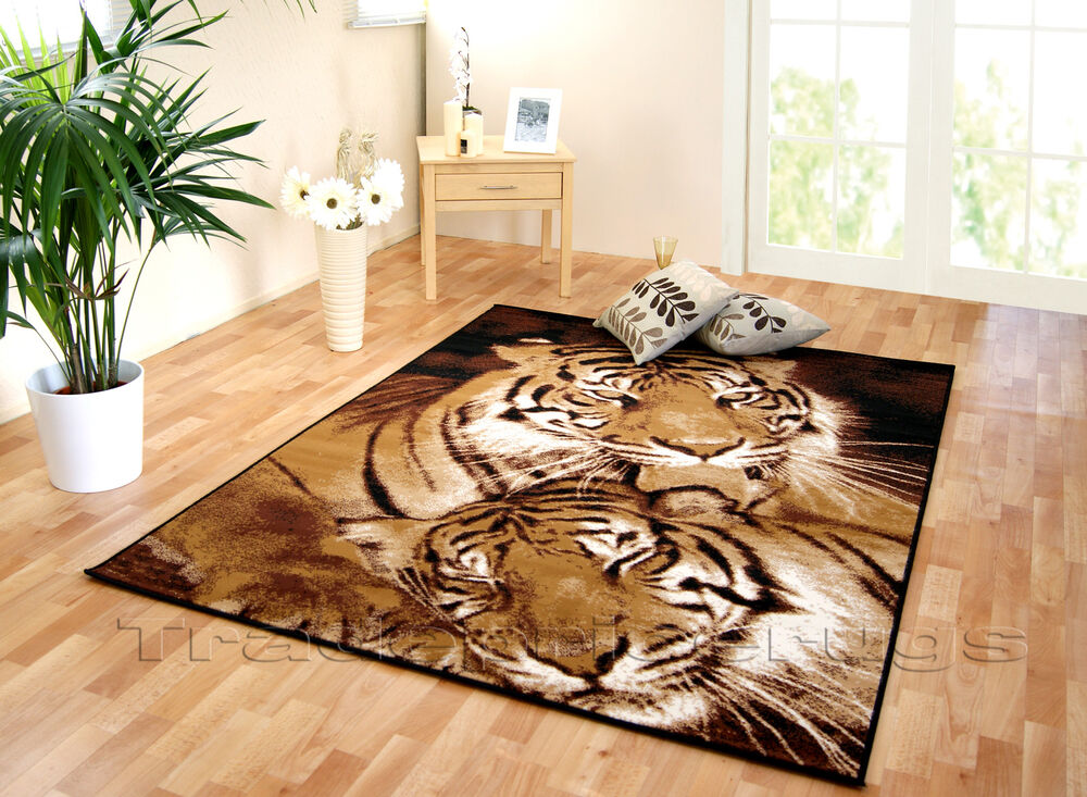 New Large Amp Extra Large Animal Tiger Print Brown Black