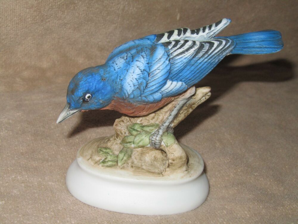 Lefton China Japan Hand Painted Blue Bird Kw395 Excellent Ebay