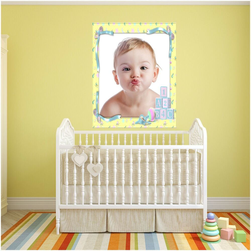 Your Baby nursery personalised photo printed frame wall sticker 7 ...