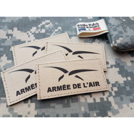 img-Snake Patch - SCRATCH - ARMEE DE L'AIR NEW - SABLE TAN - VOL FRANCE AVION CHASSE