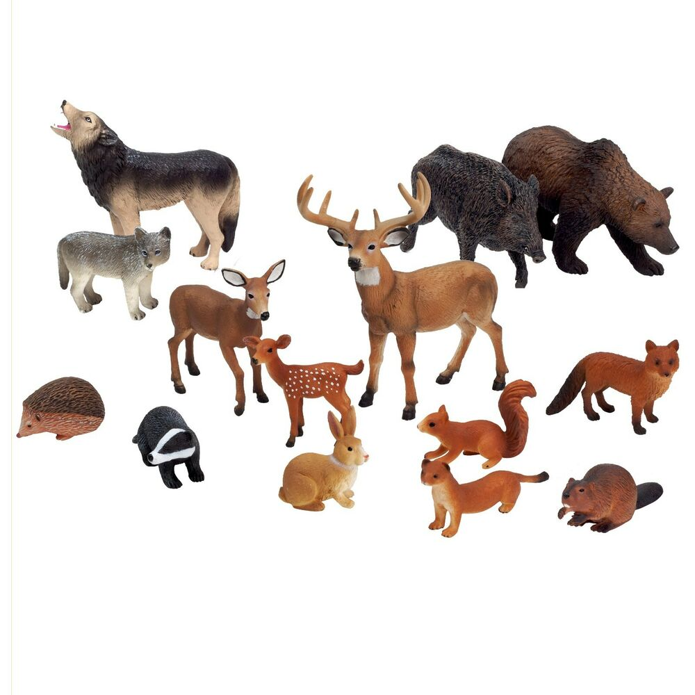 Toys For Animals : Animal figurine wild woodland action figure play toys by
