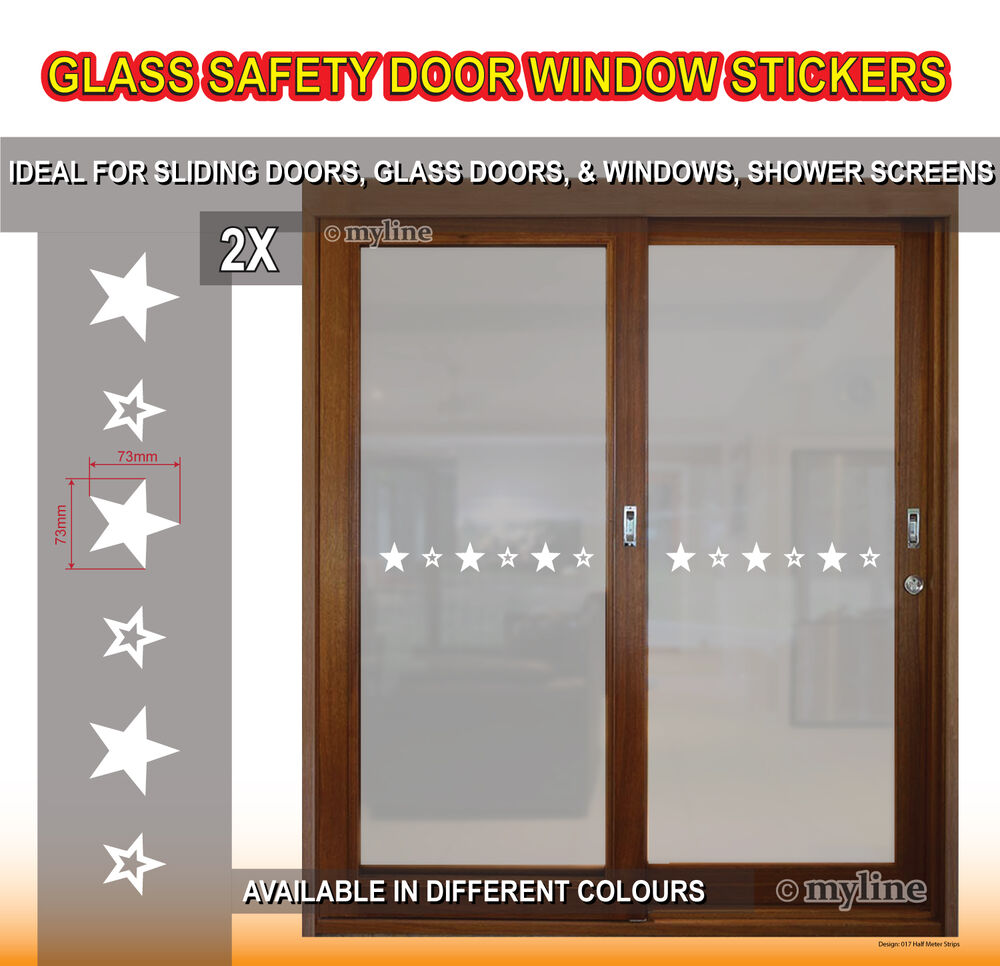 Glass Safety 017 Stars Window Door Stickers Decals Choose Colour
