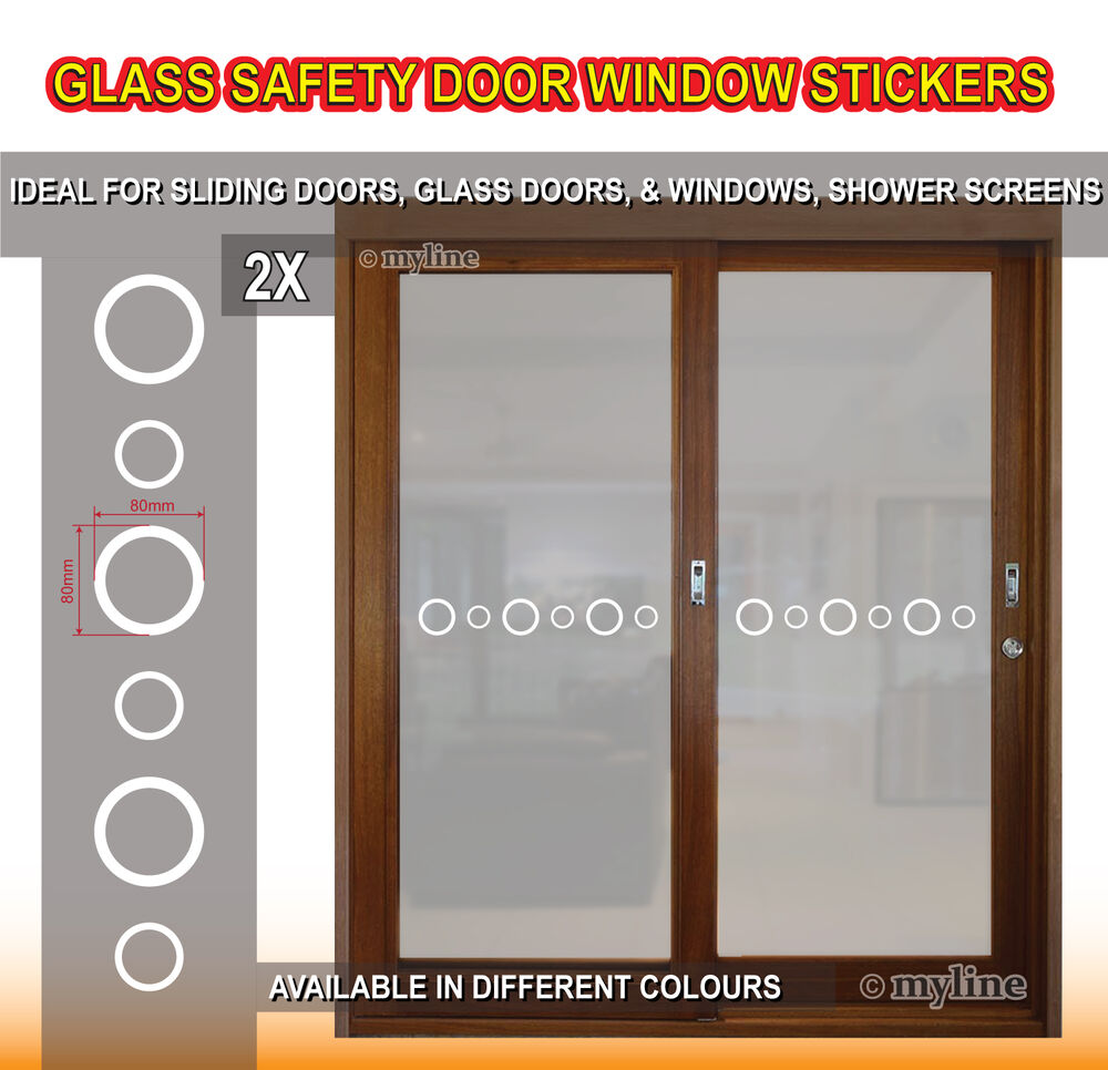 Glass window door safety stickers decals 015 circles select colour ebay