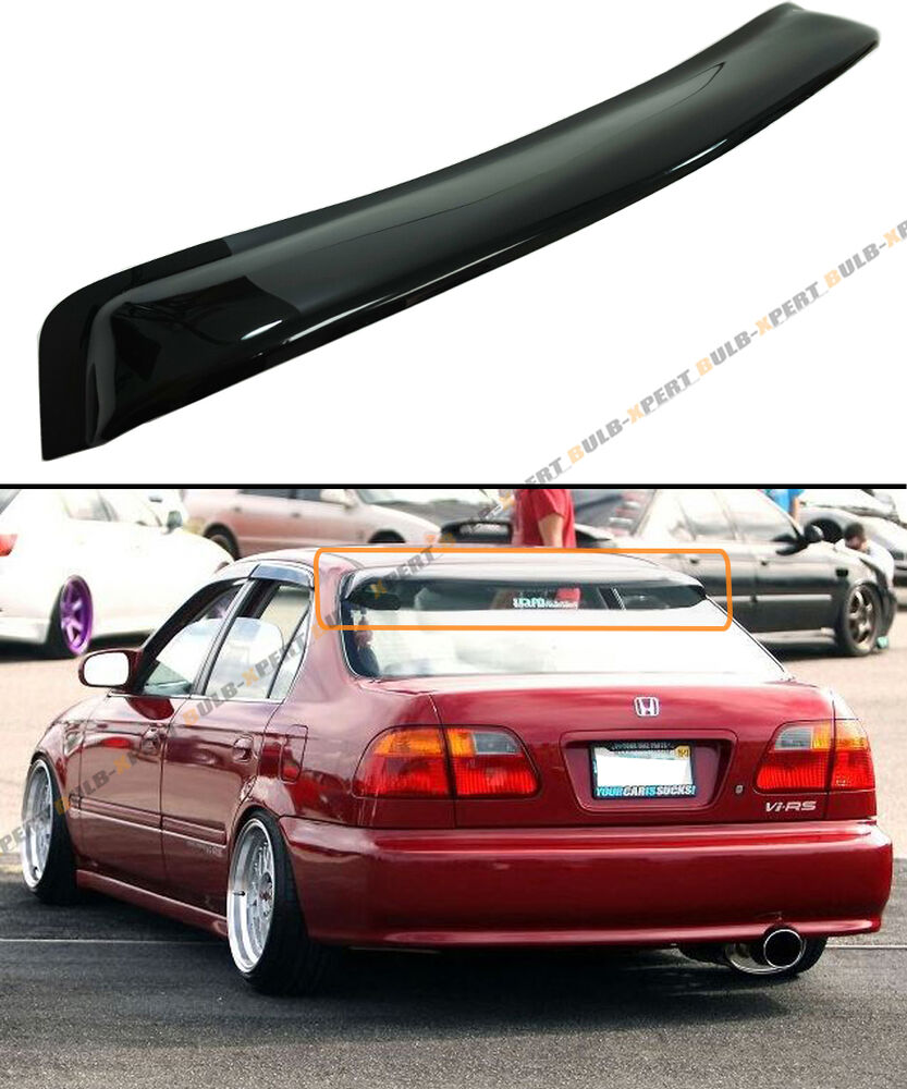 For 1996 2000 Honda Civic 4 Dr Sedan Smoke Tinted Rear