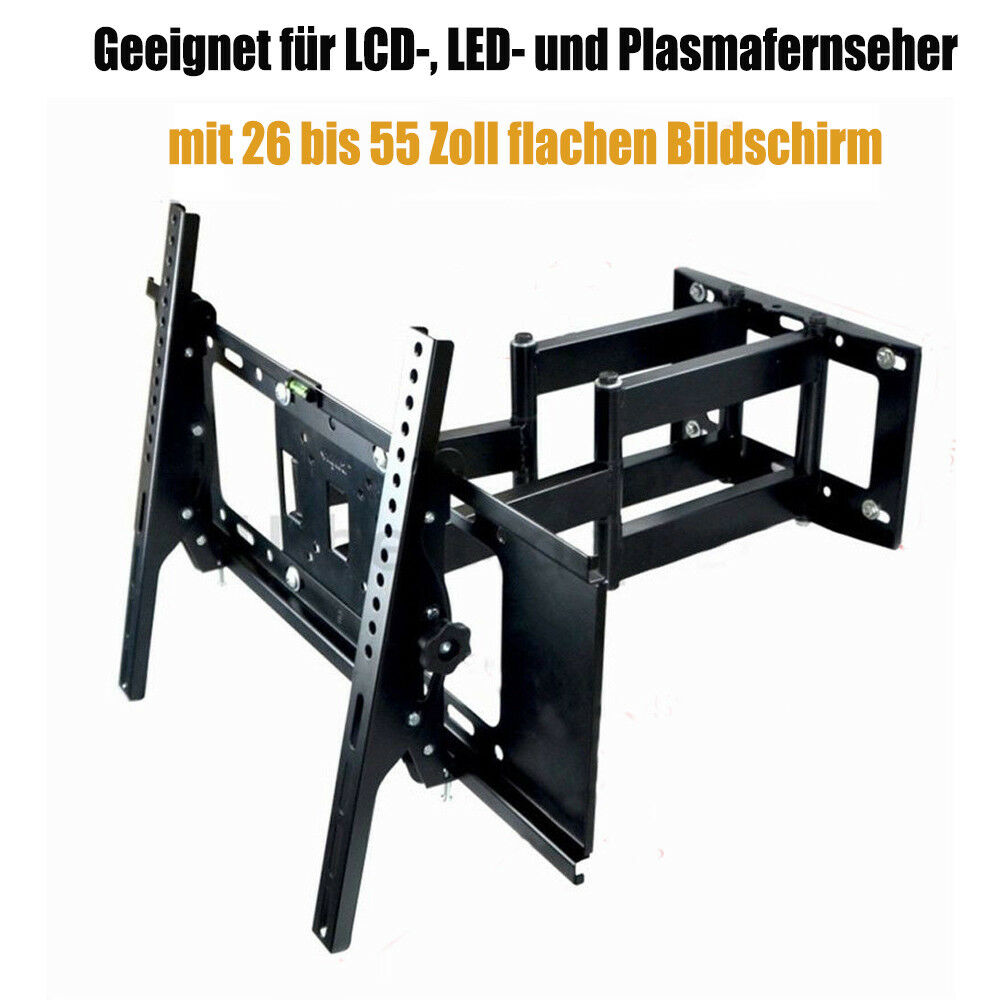 wandhalter wandhalterung schwenkbar neigbar f r 26 55 zoll lcd led tv fernseher ebay. Black Bedroom Furniture Sets. Home Design Ideas