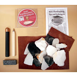 Kyпить Deluxe Flint Knapping Kit - Copper Billet, Flaker, Pad, DVD, and Stone Included на еВаy.соm