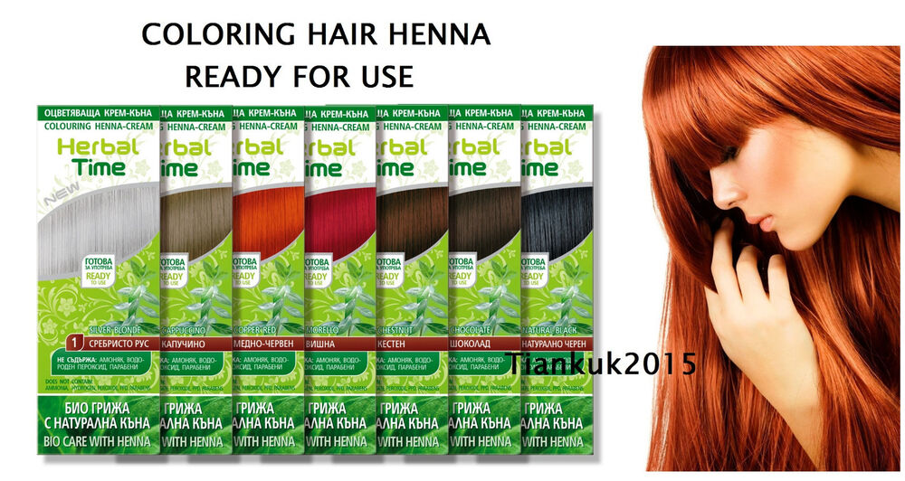HERBAL TIME HENNA 100% NATURAL CREAM HAIR COLOURANT,Ready for use,75 ...