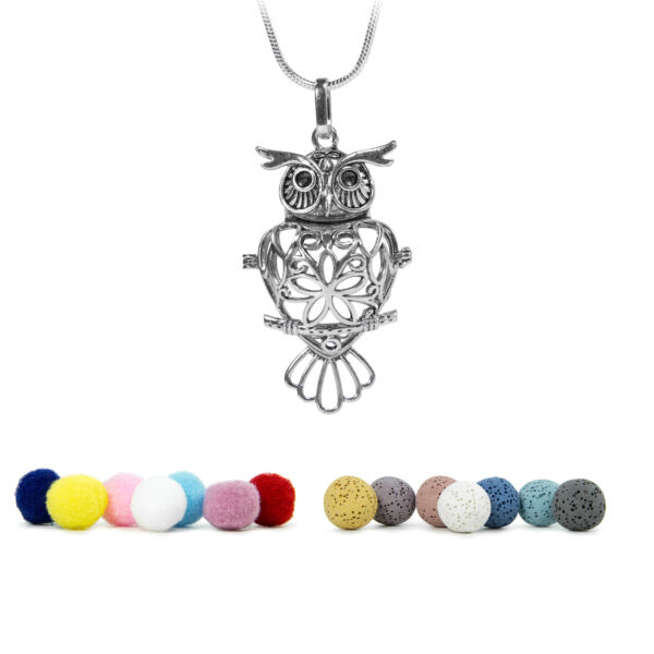 Aromatherpy Essential Oil Diffuser Necklace Locket, w/ 24