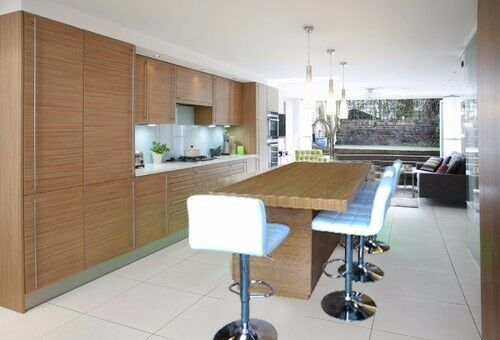 Details About 7 Ft Kitchen Island Bamboo Stained With White Carrara Quartz Top