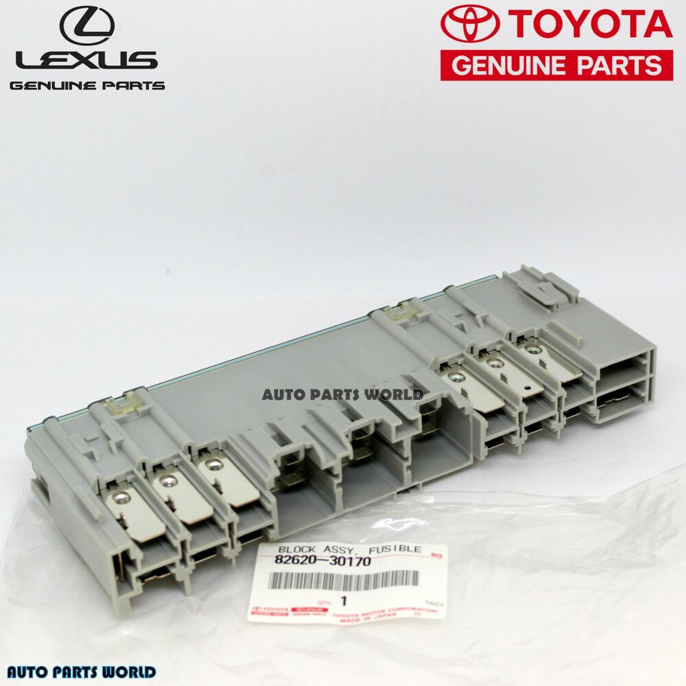 genuine lexus gs350 gs430 is250 is350 fusible link block fuse box  82620-30170 | ebay