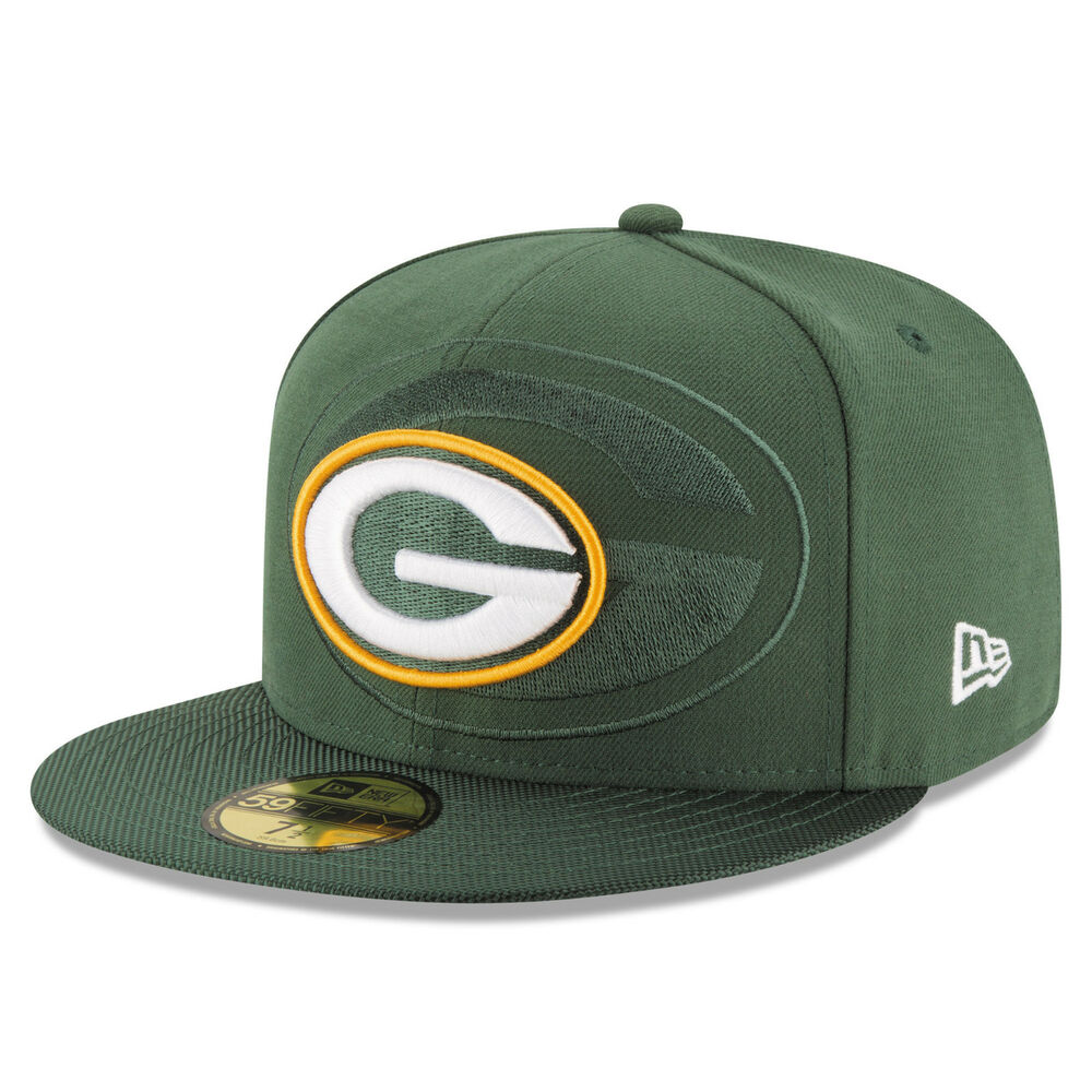 Details about GREEN BAY PACKERS NFL AUTHENTIC ON FIELD PLAYERS NEW ERA  59FIFTY FITTED HAT NWT 15d7ba8e5