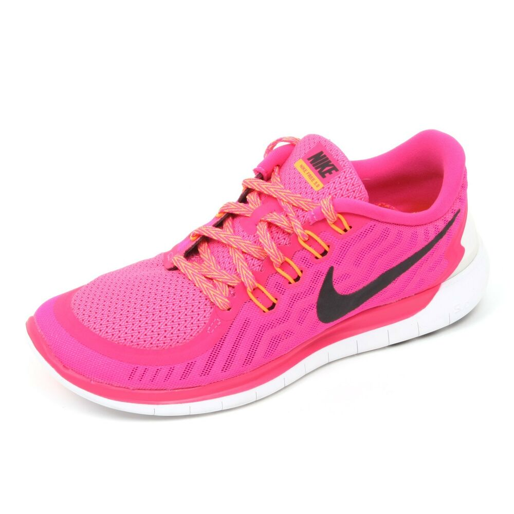 more photos d48dd 5f5bb Details about C5954 sneaker donna NIKE FREE 5.0 scarpa rosa fluo shoe woman