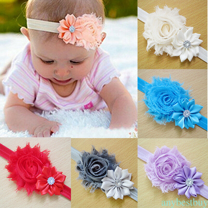 f3868a127 Details about 10Pcs Newborn Baby Girl Headband Infant Toddler Bow Hair Band Girls  Accessories