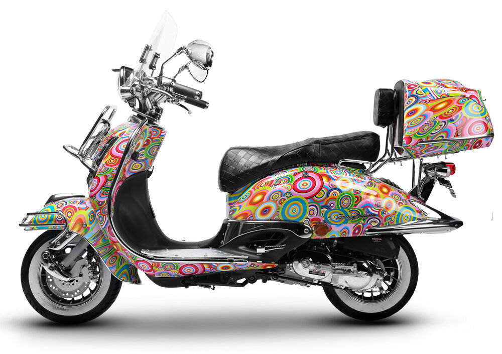 motorroller retro roller motorrad scooter 125 ccm 80 kmh hippie easycruiser 2017 ebay. Black Bedroom Furniture Sets. Home Design Ideas