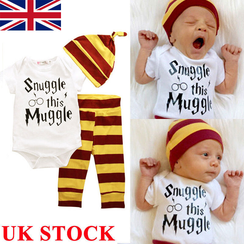 uk 3pcs harry potter snuggle this muggle baby clothes top. Black Bedroom Furniture Sets. Home Design Ideas