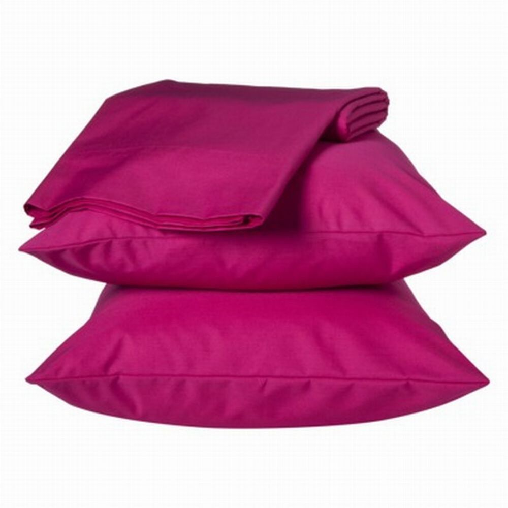 Easy Care Sheet Set Hot Pink Twin XL Dorm Bed Sheets Bedding