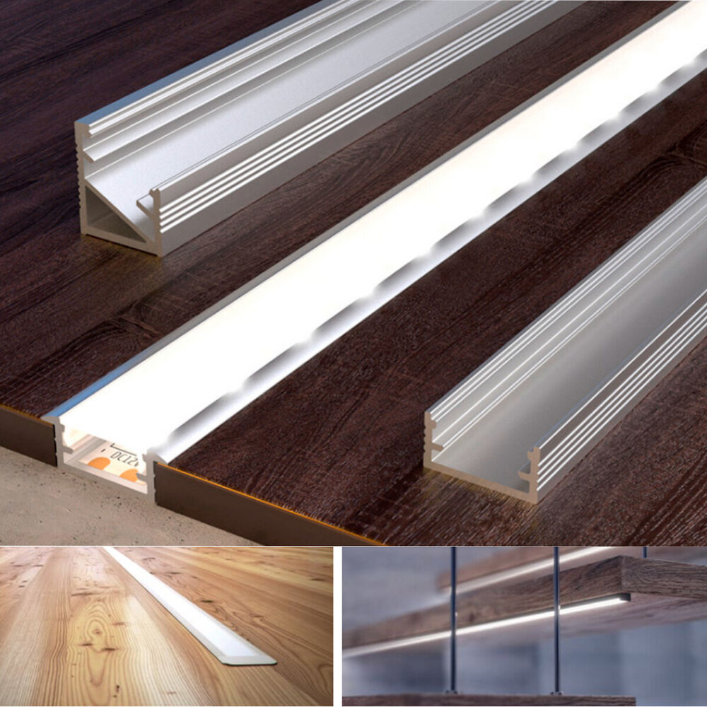 2 Meters Aluminium Channel For Led Strip Light With Cover