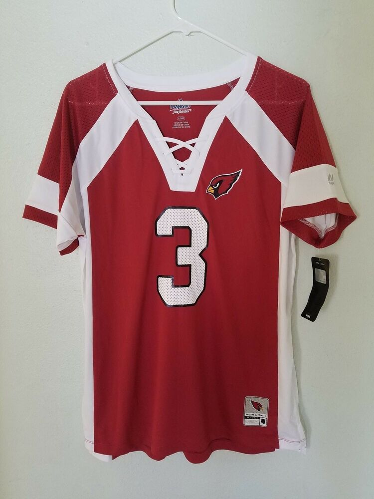 49e725b69 NEW WOMENS NFL Team Apparel ARIZONA CARDINALS  3 CARSON PALMER V Neck Jersey  NWT
