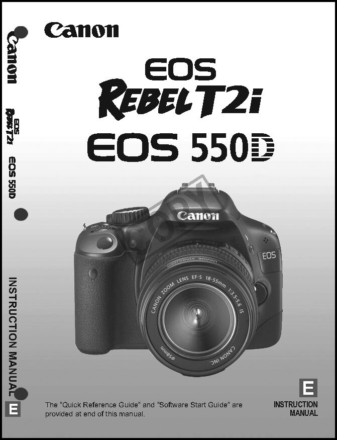 canon rebel t2i eos 550d digital camera user instruction guide rh ebay com canon 550d quick start guide Canon DLSR