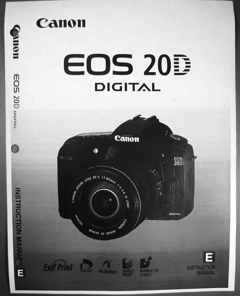 Details about Canon EOS 20D Digital Camera User Instruction Guide Manual