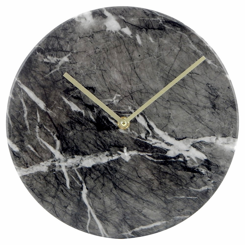 New Threshold Modern Wall Clock Black Marble 10 Quot Object