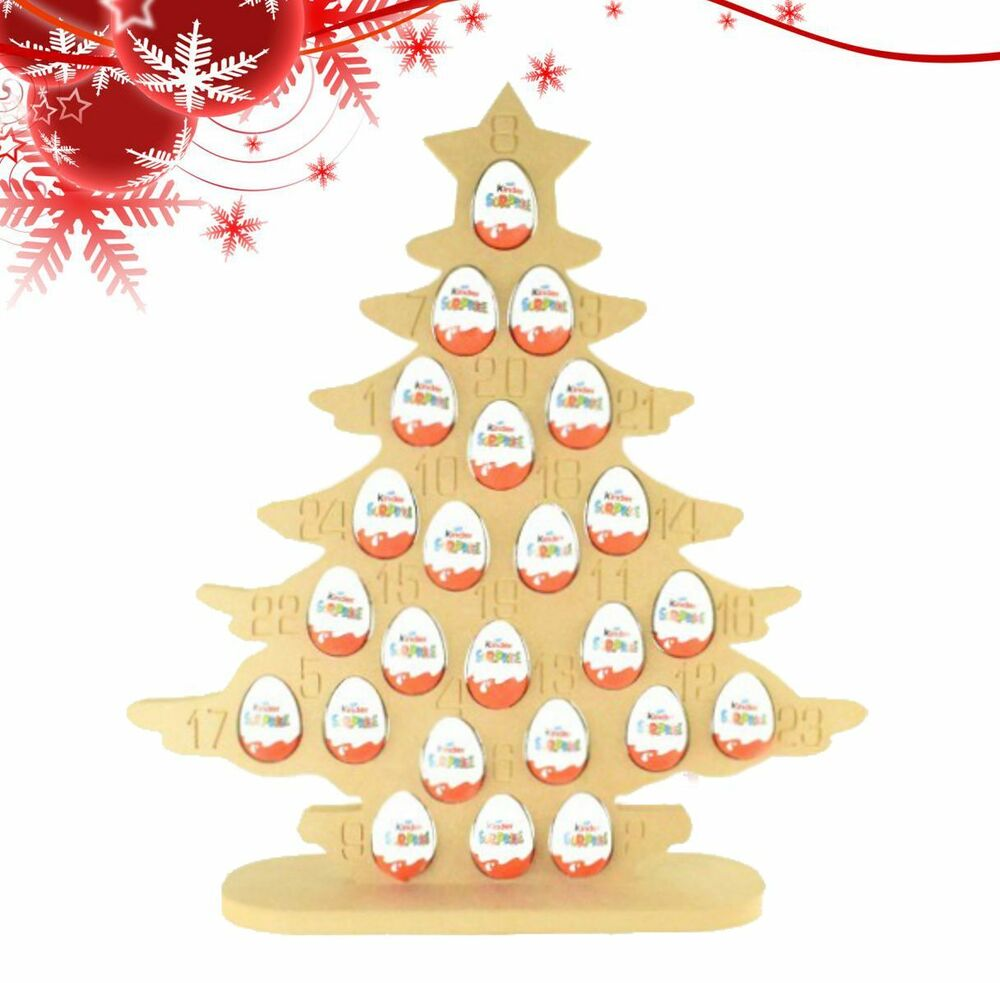 Super sized 18mm Freestanding Christmas Kinder Egg Tree Advent ...