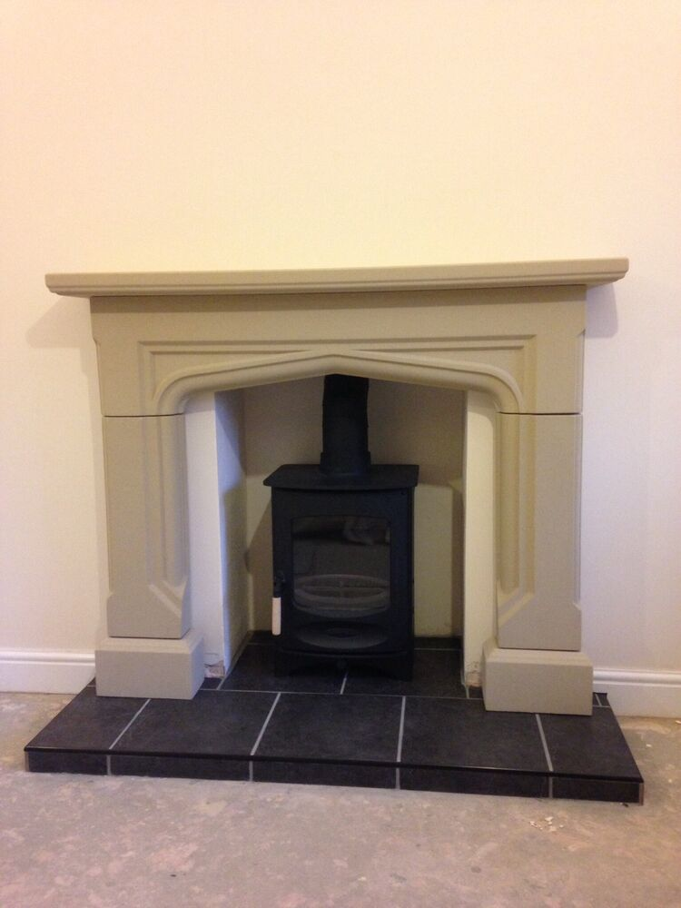 Stone Fireplace Surround Wood Burner Gas Electric Fire Ebay