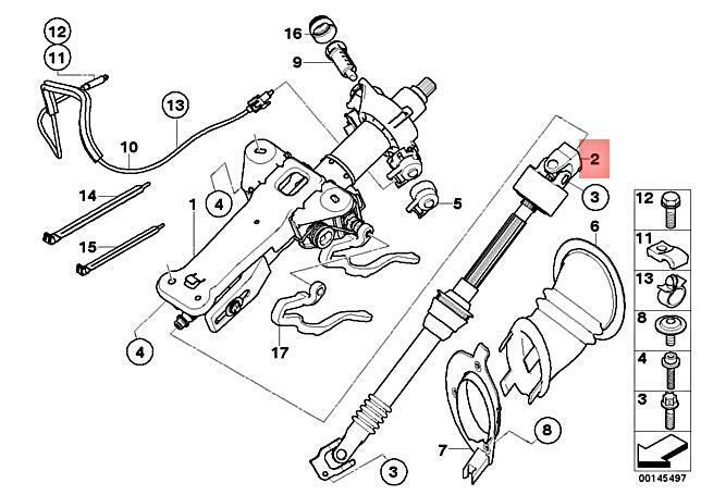 Genuine Bmw E60 E60n E61 E61n E63 E64 Steering Column Linkage Oem