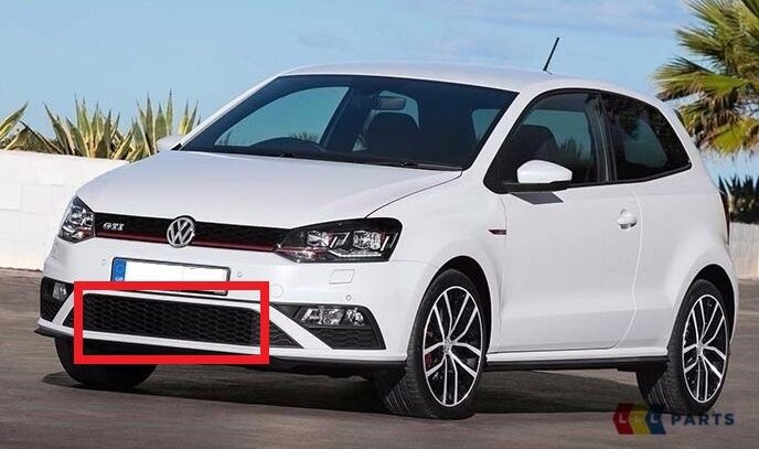 new genuine vw polo gti 15 17 front bumper lower center. Black Bedroom Furniture Sets. Home Design Ideas