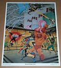 1983 Uncanny X-Men vs Alpha Flight 14 x 11 Marvel Comics poster:Wolverine/1980's
