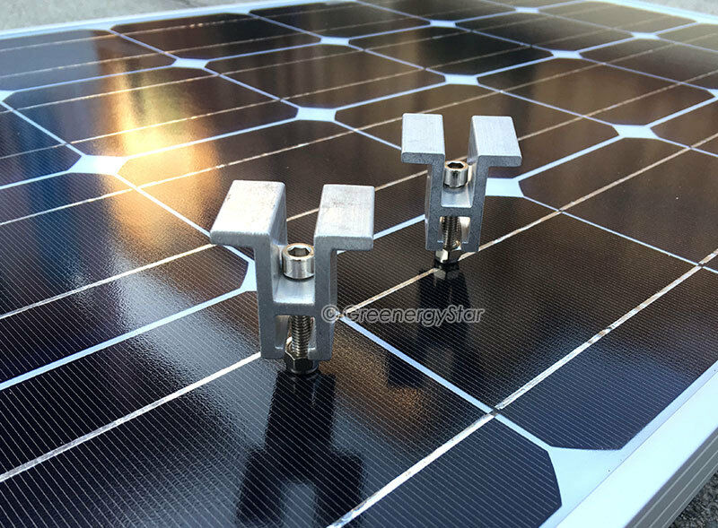 Mid Clamp Brackets For Solar Panel Mounting Rack Rail