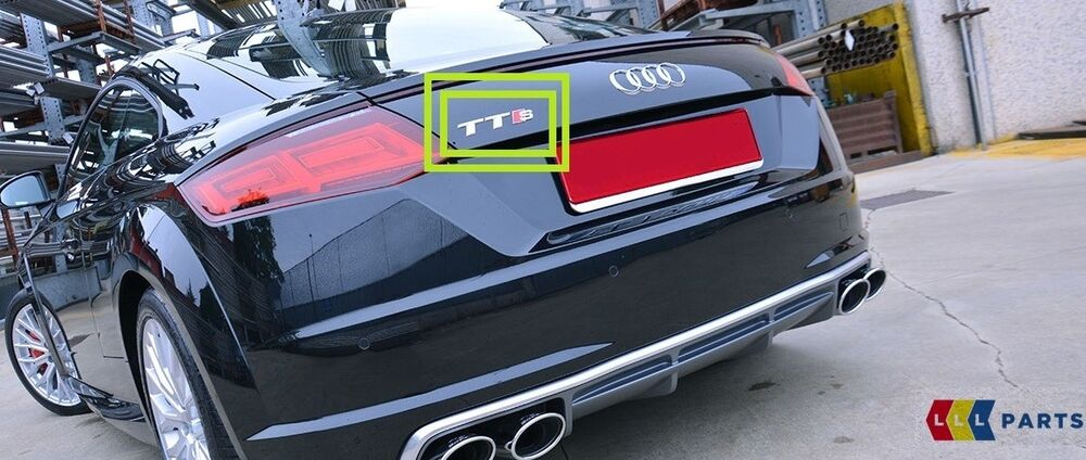 Details About New Genuine Audi Tt Tts 15 17 Rear Trunk Boot Lid Badge Emblem 8s0853735a2zz