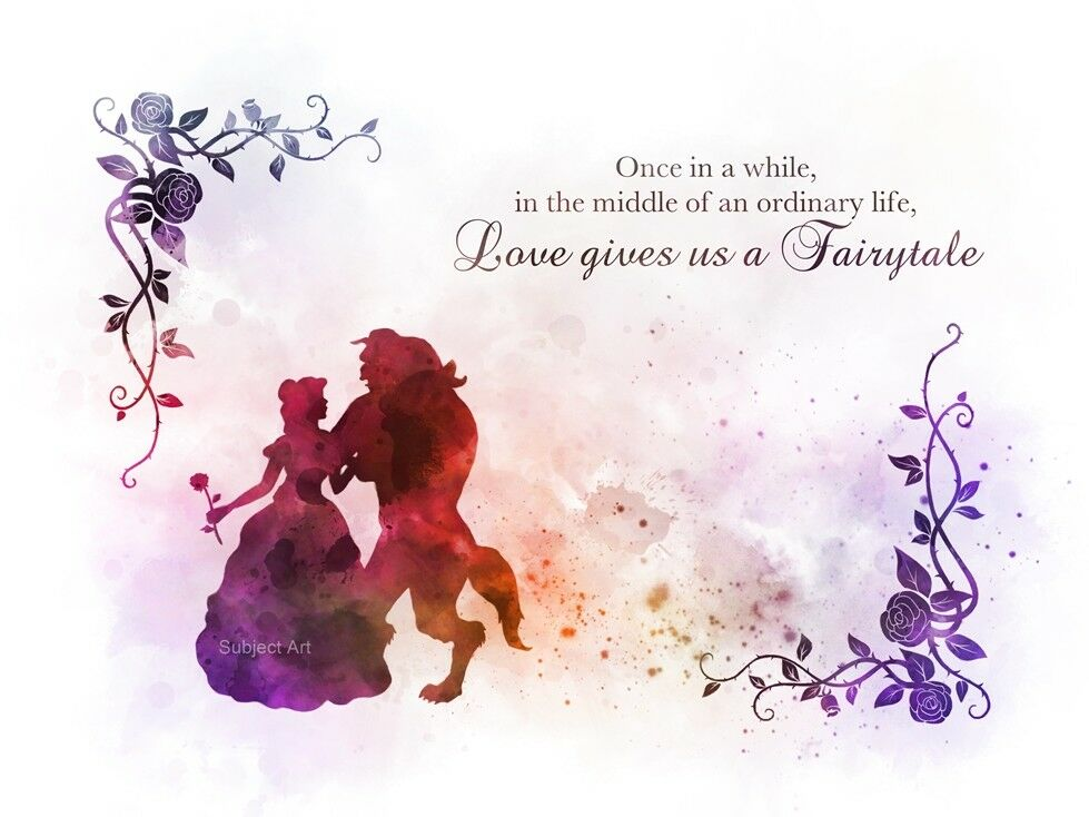 Pinterest Disney Quotes: ART PRINT Beauty And The Beast Quote Princess Disney Gift