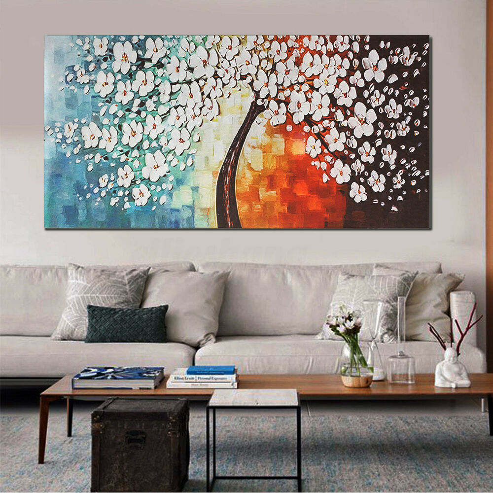 48u0027u0027 Unframe Wall Art Canvas Print Flowers Colorful Picture Home Decor  Painting