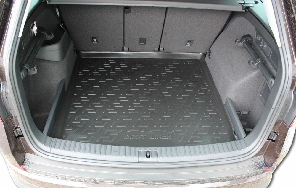 premium rubber boot liner mat tray protector skoda kodiaq 2016 up ebay. Black Bedroom Furniture Sets. Home Design Ideas