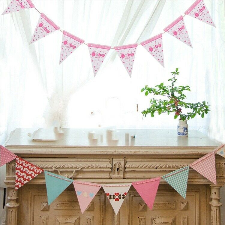 Baby Shower Banner Boy Or Girl Birthday Party Garland Hanging