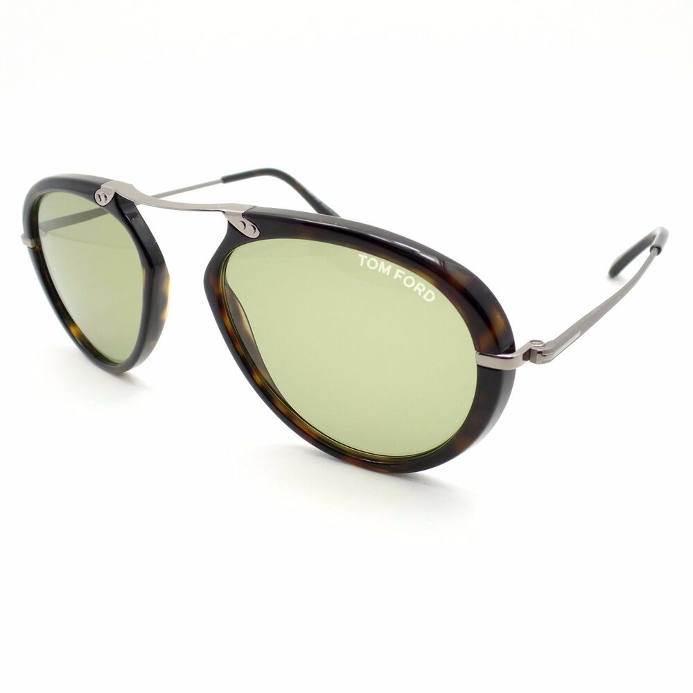 088cce4e7be1 Details about Tom Ford TF 473 Aaron 52N Dark Havana Green Authentic Sunglasses  New rl