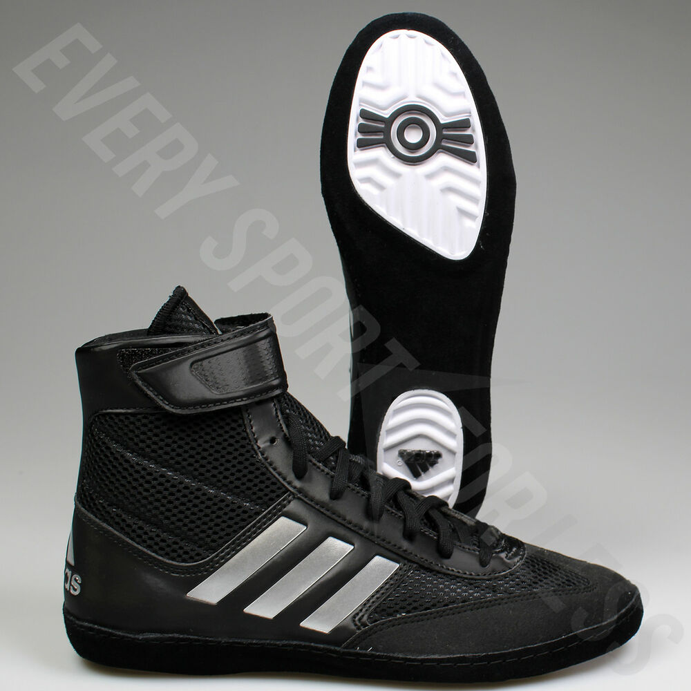 7a157e7daa35bf Details about Adidas Combat Speed 5 Mens Wrestling Shoes BA8007 Black    Silver (NEW) List  100