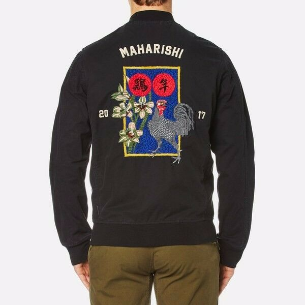Maharishi mens coats and jackets ebay maharishi year of the rooster jacket black size l brand new gumiabroncs Image collections