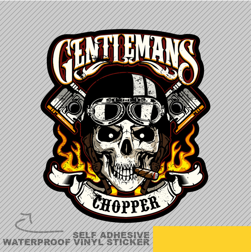 Details about gentlemen chopper road motorcycle vinyl sticker decal window car van bike 2017