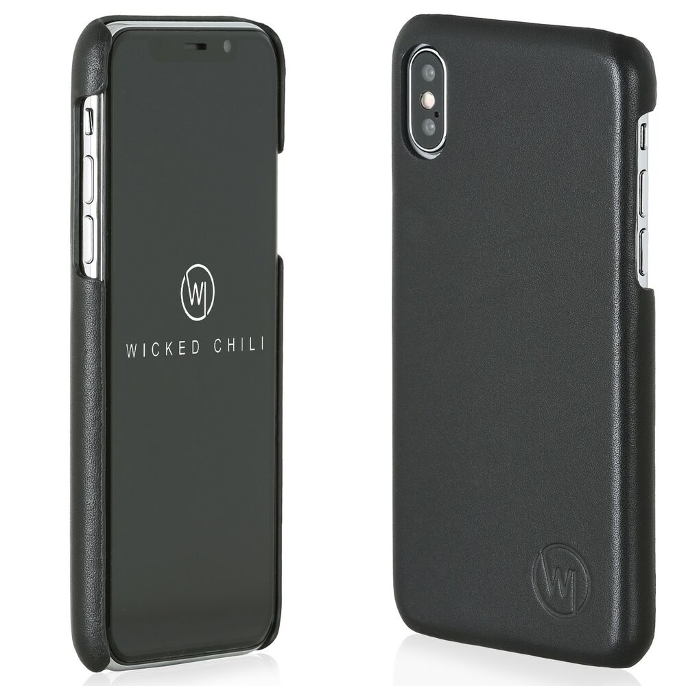 body case slim lederh lle apple iphone x 10 backcover back leder tasche h lle ebay. Black Bedroom Furniture Sets. Home Design Ideas