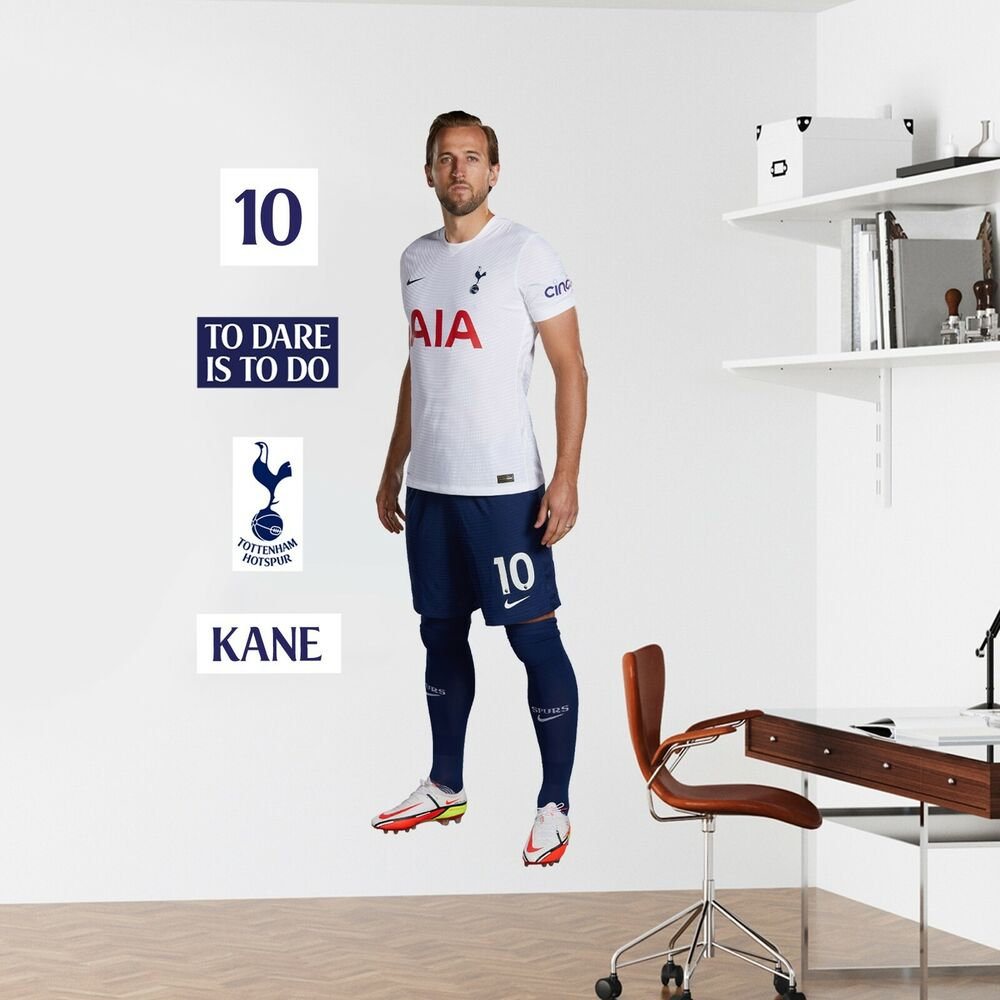 Tottenham hotspur football club harry kane player mural crest tottenham hotspur football club harry kane player mural crest wall sticker set ebay amipublicfo Gallery