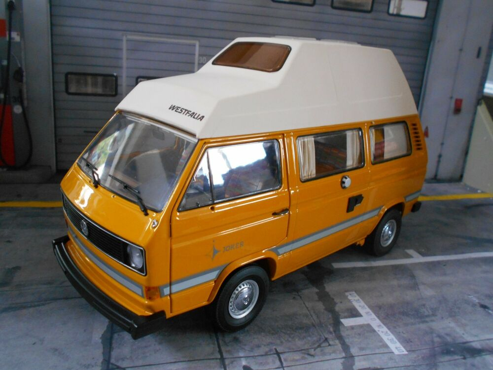 vw volkswagen bus t3 hochdach camper westfalia joker camping schuco metall 1 18 ebay. Black Bedroom Furniture Sets. Home Design Ideas