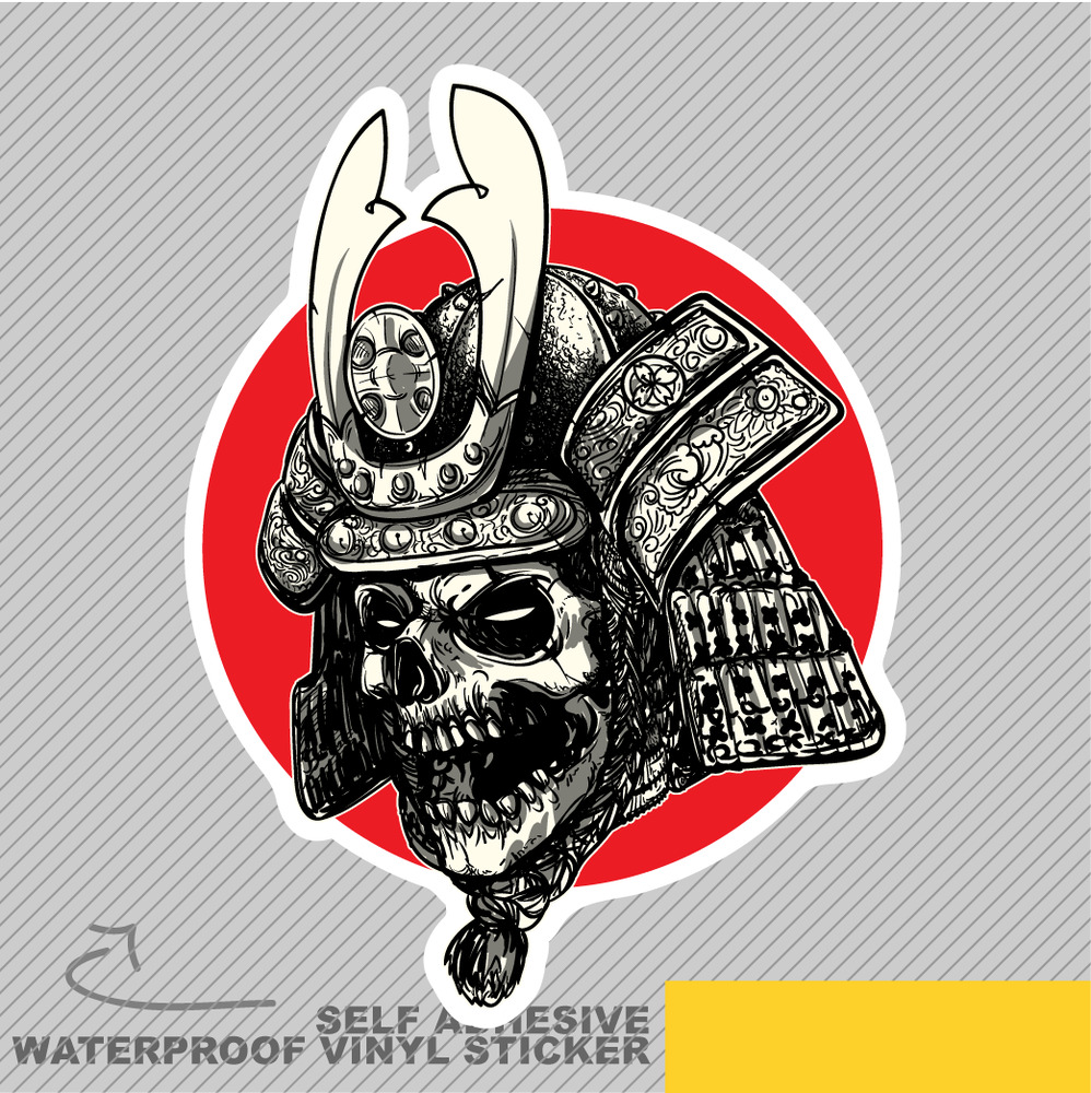 Samurai skull gothic japanese head vinyl sticker decal window car van bike 2048 ebay