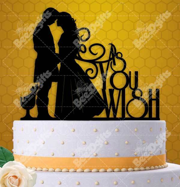 Princess Bride Inspired As You Wish Wedding Cake Topper 6\